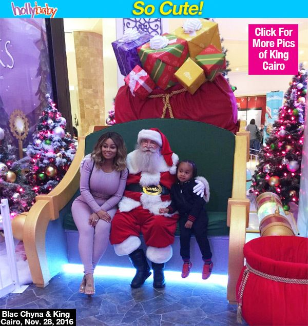 Blac Chyna Leaves Baby Dream At Home & Takes King Cairo To Meet Santa