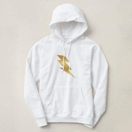 Lightning Bolt in Metallic Gold Hoodie  $39.95  by ktay21  - cyo customize personalize unique diy idea