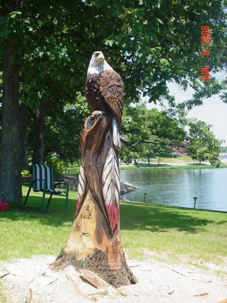 chain saw art | Tool & Paint Chainsaw Carving Contest Of June