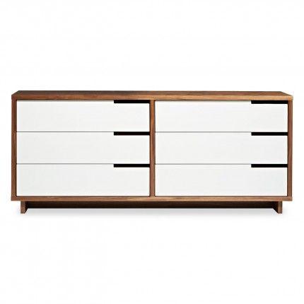 Modu-licious Low Dresser – Modern Dresser - Walnut   blu dot   master bedroom
