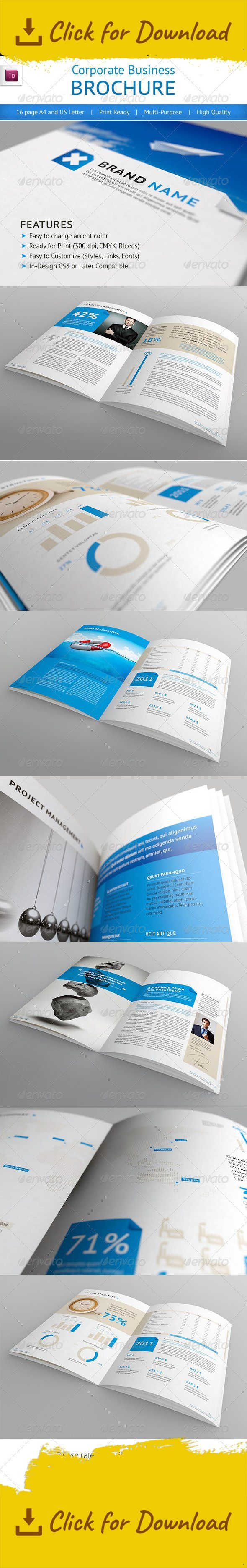 blue, booklet, brochure, business, clean, conceptual, corporate, designer, flexible, identity, indesign template, light, modern, print, print ready, professional, simple, template This is a 16 page professional In-Design brochure perfect for corporate business that needs clean, professional, modern brochure template design.   	Easy to edit, you can change Blue accent color throughout the whole document at once, paragraph and character styles included, text and images placed on separate laye...