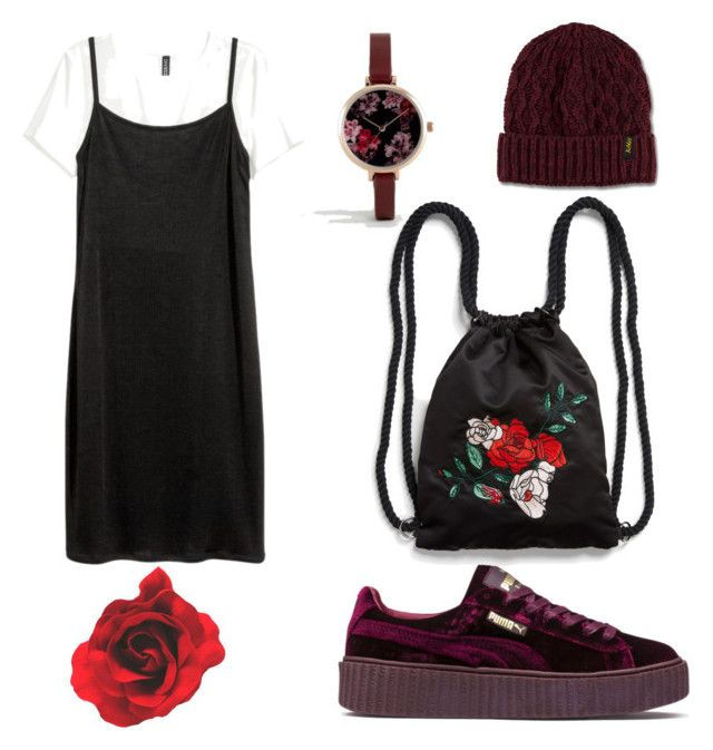 Maroon vibes by fdshahnaz on Polyvore featuring polyvore, fashion, style, Puma, Monki, ASOS, Dr. Martens and clothing
