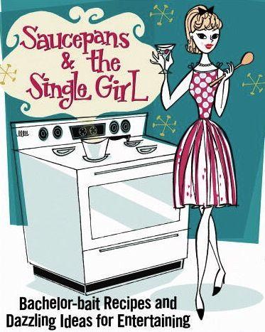 Vintage Cookbook. Yep, the secret is the sauce pans. ;)