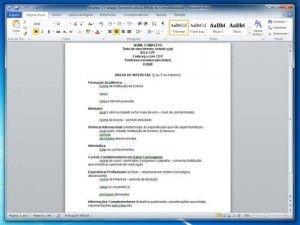 Modelo De Curr 205 Culo Para Editar No Word Documentos