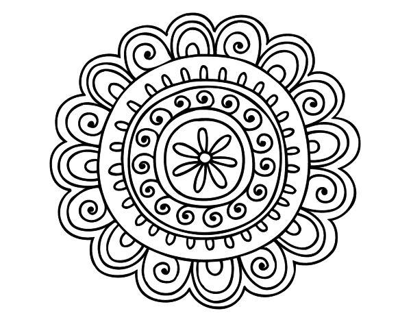 Happy Mandala Coloring Page