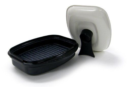 Microhearth Grill Pan for Microwave Cooking, Black by Microhearth, Inc. $40.76. Keeeps natural moisture in food. Easy to clean and use nonstick coating. Microwave oven cooking speed and grilling taste. Microhearth grill pan is a revolutionary pan used in your microwave that its cooking results may surprise you. The results are moist and flavorful foods that utilize the microwave oven's convenience; while enduring natural flavor and freshness. With this pan, you can sa...