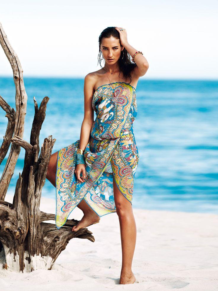 Wickelkleider für den Strandurlaub selber nähen - burda