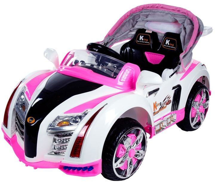 Lil Rider Battery Operated Ridding Car With Canopy Pink