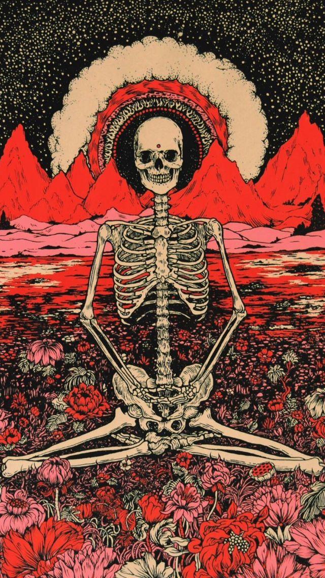 art red trippy iphone nirvana hippie hipster wallpaper