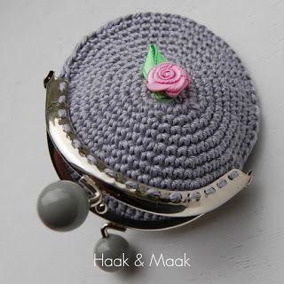 Haak & Maak: Knip - portemonnee haken - gratis patroon / free pattern in Dutch