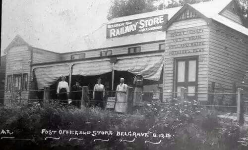 Dickenson's Post Office and General Store in Belgrave,Victoria in 1918.A♥W
