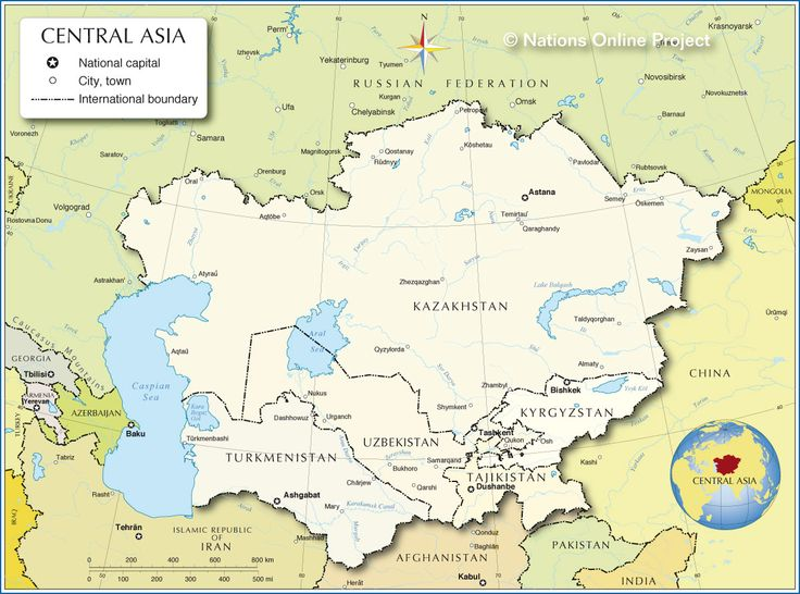 Map of Central Asia  http://www.nationsonline.org/oneworld/map/central-asia-map.htm