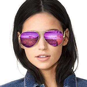 5a5bd7dfe39 SODQW Sunglasses for Women Polarized Mirrored