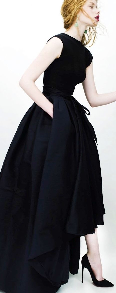 classic black gown dress