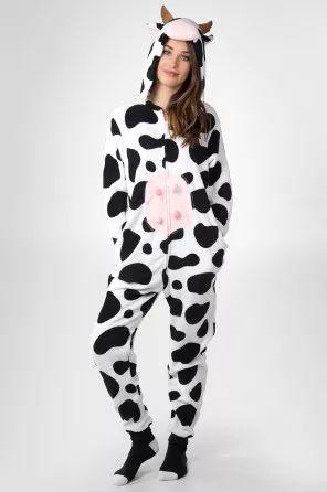 httpwwwnewtrendsclothingcomcategoryonesie pajamas onesie pajamashalloween costumesruby ringscowonesiespajamastags - Halloween Costume Cow