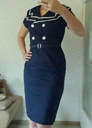 Kaufe meinen Artikel bei #Kleiderkreisel http://www.kleiderkreisel.de/damenmode/sonstiges/140149617-retrokleid-im-marinestil