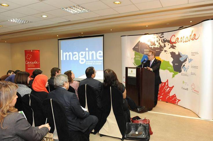Edu-Canada Events 2014 speech by Canadian Ambassador, David Drake. Event organized by Nancy Emil