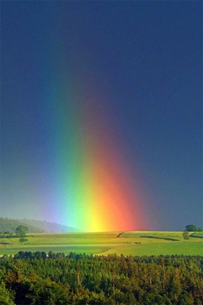 I wonder if we can actually stand in the end of a rainbow.  Probably so, but we wouldn't know it.  Only people standing at a certain distance and angle would be able to see the rainbow shining down on us.  Makes me wonder what blessings we have in our lives that only others are able to see.