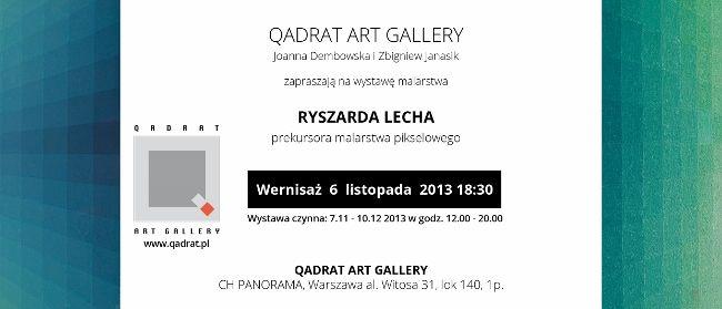 Ryszard Lech - malarstwo pikselowe w Qadrat Art Gallery http://artimperium.pl/wiadomosci/pokaz/77,ryszard-lech-malarstwo-pikselowe-w-qadrat-art-gallery#.UnWwbflWySo