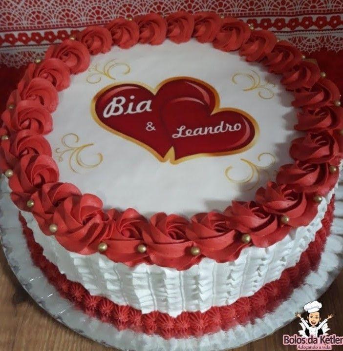 Bolo Vermelho E Branco 80 Modelos Fantasticos Confira Com