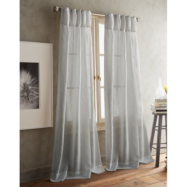 Paradox Pencil Pleat Solid Color Sheer Curtain Panels Panel
