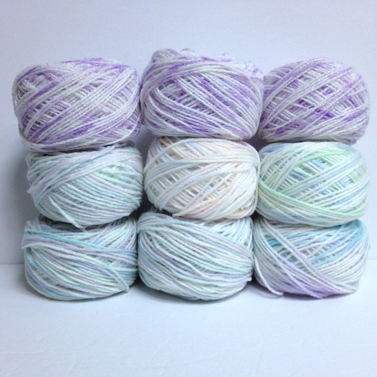 9 Skeins Baby Yarn Bundle Variegated Yarn Skeins for Baby Blankets Clothing & Accessories Pastels Plus Violet Sparkle Yarn Too by HeyJudeCollection on Etsy