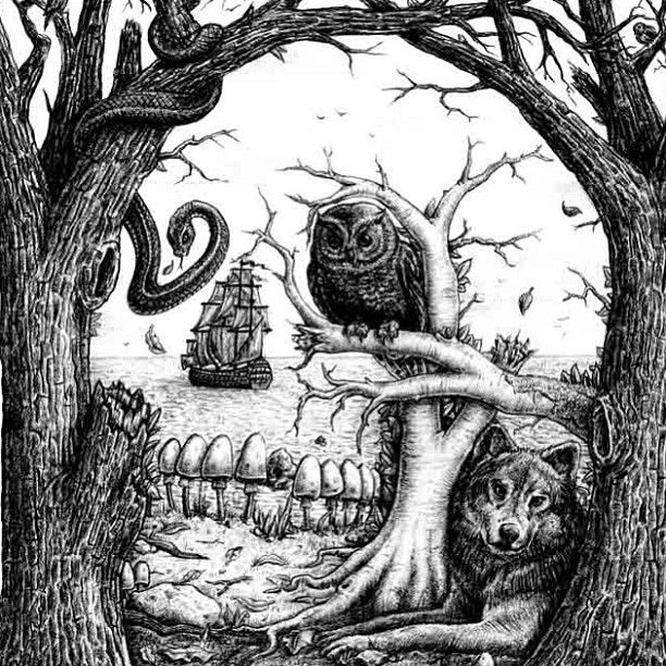 Skullusion ~ Graphic tee for Volcom ~ Jamie Browne jamiebrowneart.com