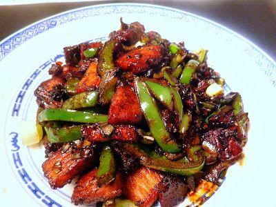Wat ik gegeten heb: Chinees varkensvlees met paprika en chilipeper