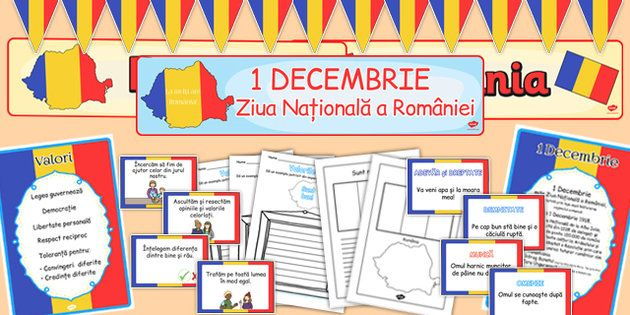 * NEW * Romanian National Day Resource Pack