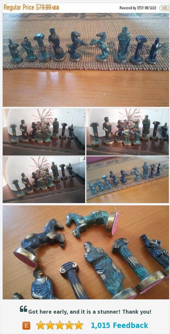 Now On Sale Vintage Set of 9 Metal Soldier & Horse Figurines, Old Antique Chess Pieces #vintage #chess #pieces #mancave #homedecor #giftsforhim https://www.etsy.com/MartiniMermaid/listing/562301891/now-on-sale-vintage-set-of-9-metal?ref=shop_home_active_7