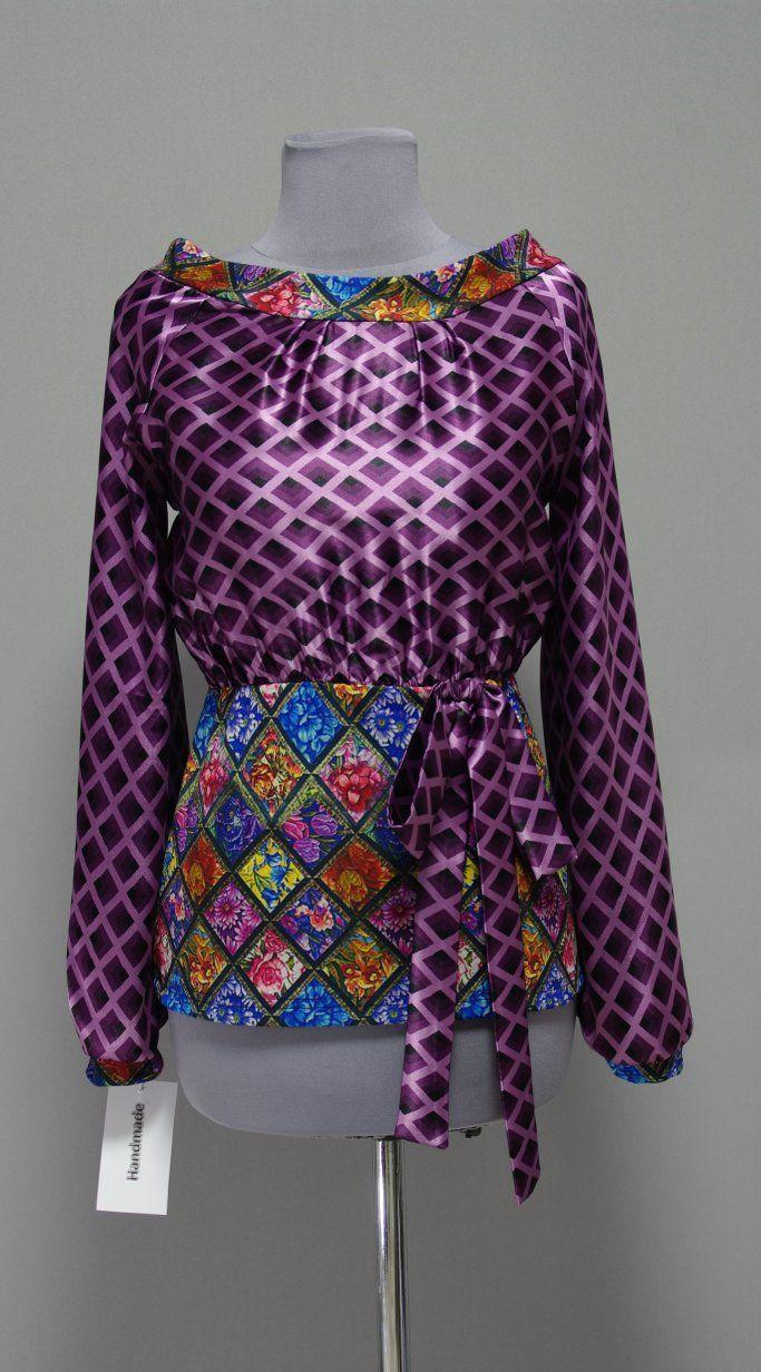 фиолетовая блузка Украина Платье-терапия