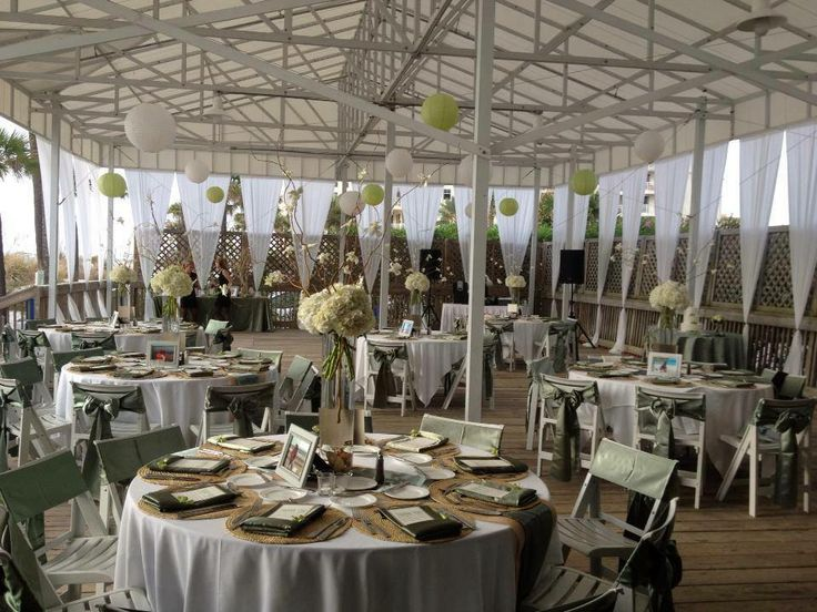 Sandpiper Deck Wedding Décor Flowers And Set Up By Iza S Clearwater Beachbeach