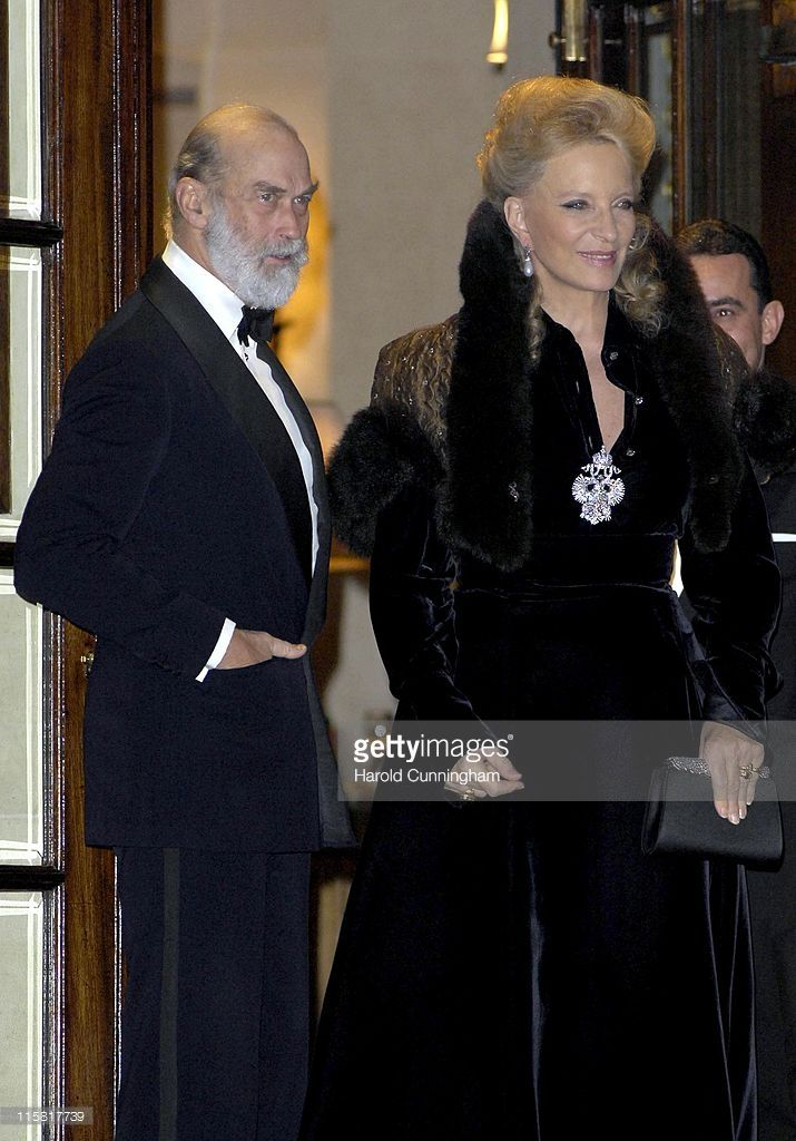 TRH The Prince and Princess Michael of Kent during HRH The Queen's 80th Birthday Party - Arrivals - December 5, 2006 at The Ritz in London, Great Britain.
