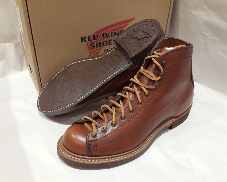 "Red Wing boot style 2996 Leather Cigar ""Retan"" New in Box Size 7.5 D. Combining Black nitrile cork sole and Goodyear welt construction, original only to Red Wing. Boots coming with original Red Wing laces: 54"" Braided Taslan (Black/Brown). 