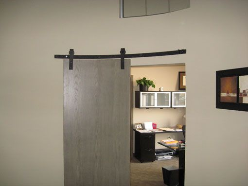 Curved track hardware barn door hardware homes for Curved barn door track