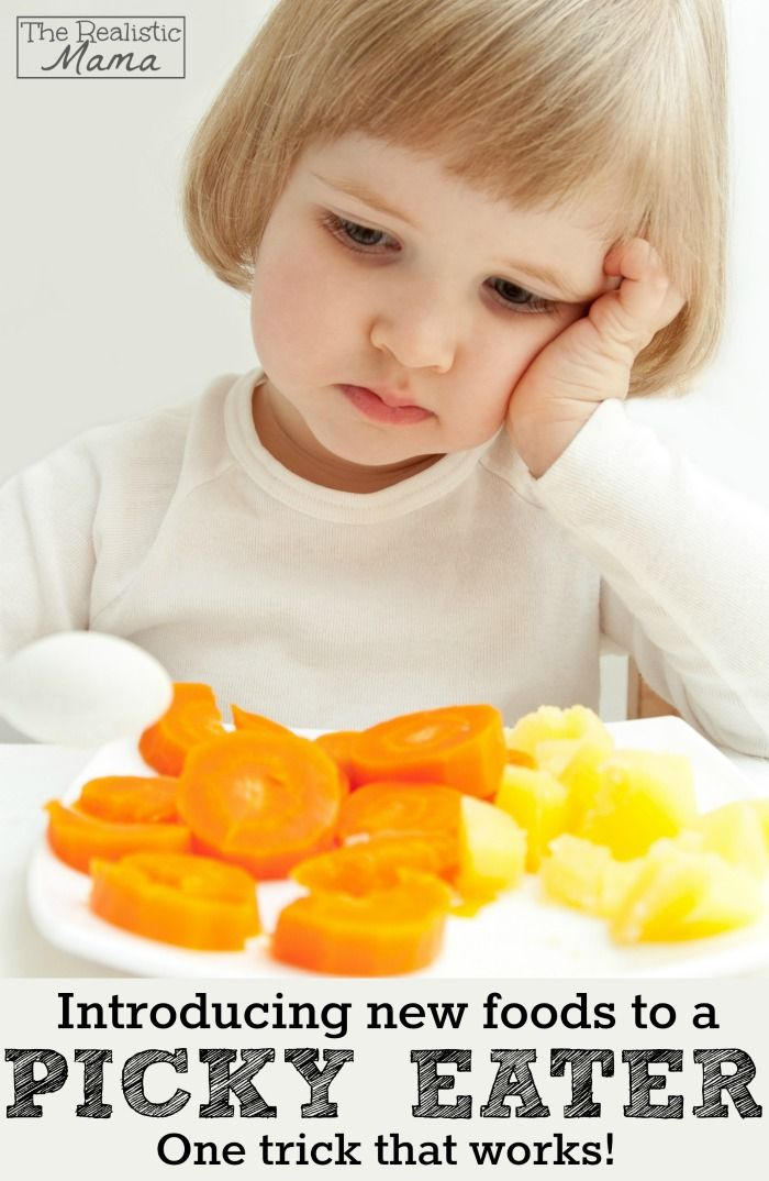Introducing New Foods to Picky Eaters - The Realistic Mama