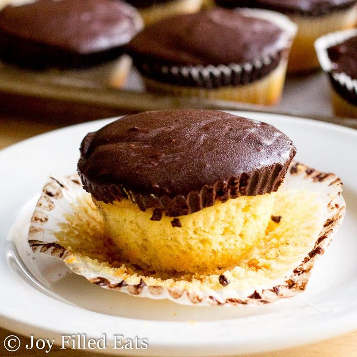These Tagalong Cupcakes have fluffy grain free yellow cake covered with peanut…
