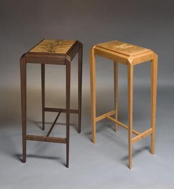 Oregon Walnut and American Cherry Tables  (Diamond Series: Gem1 & Gem2) by Hugh Montgomery