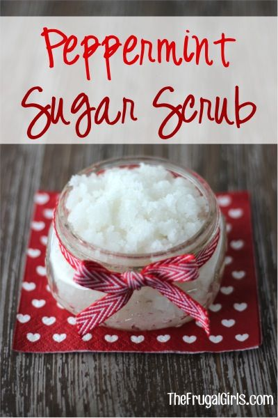 How to Make Peppermint Sugar Scrub! ~ from TheFrugalGirls.com ~ this luxurious scrub will have your hands and feet feeling silky smooth in no time! It also makes a fabulous Gift in a Jar! #masonjars #scrubs #thefrugalgirls
