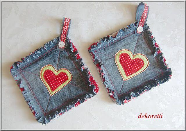 Heart Potholders