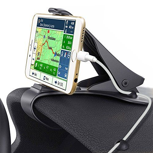 Car Phone Holder, Glamore NE-140 Car Mount HUD Design with Cable Clips, No Blocking for Sight, Durable Dashboard Cell Phone Holder for iPhone 7/7 Plus/6/6S Plus/Samsung,HuaWei, 3-7Inches Smartphones - Product Description: The Glamore car mount holder allows you to drive effortlessly by easy operation.HUD(Heads Up Display)design provides an ingenious solution of operating your phone on the premise for safe driving.How to use: 1. Clip the base to the edge of the dashboard 2. Put the phone into…