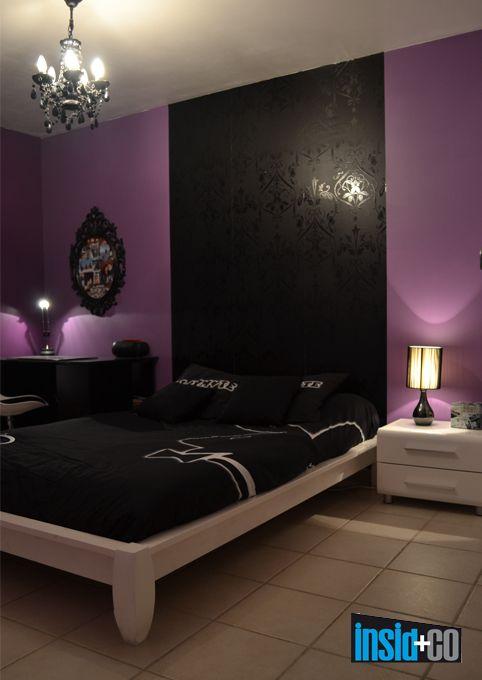 Beautiful Deco Chambre Noir Violet Gallery - House Design ...