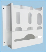 The 3 Way Gloves, Mask & Apron Dispenser from Paragon Products. This multipurpose dispenser is ideal for hospitals, psychriatric wards or surgery centres. Visit our site for more information.