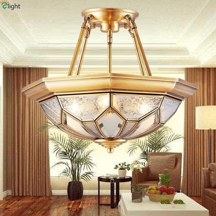 Europe Lustre Copper Led Chandeliers Luminarias Glass Dining Room Pendant Chandelier Lighting Light Hanging Lights