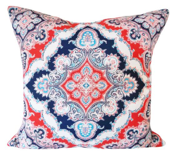 Kaufmann Zoie Blue Marine Outdoor Decorative Pillow Cover