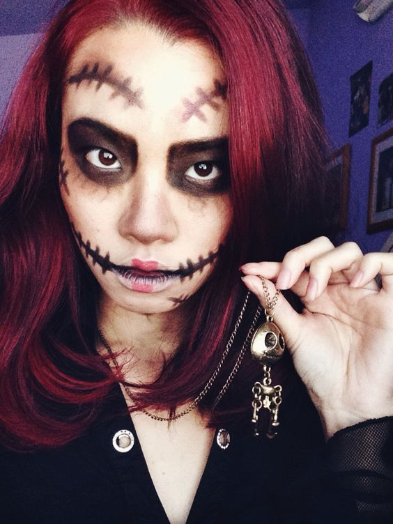 Halloween Makeup Ideas 2019 Scary.28 Cool And Creepy Voodoo Doll Halloween Makeup Ideas 2019