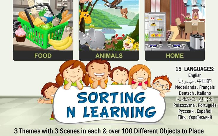 Sorting n Learning game 4 Kids – rozdelte a spoznavajte