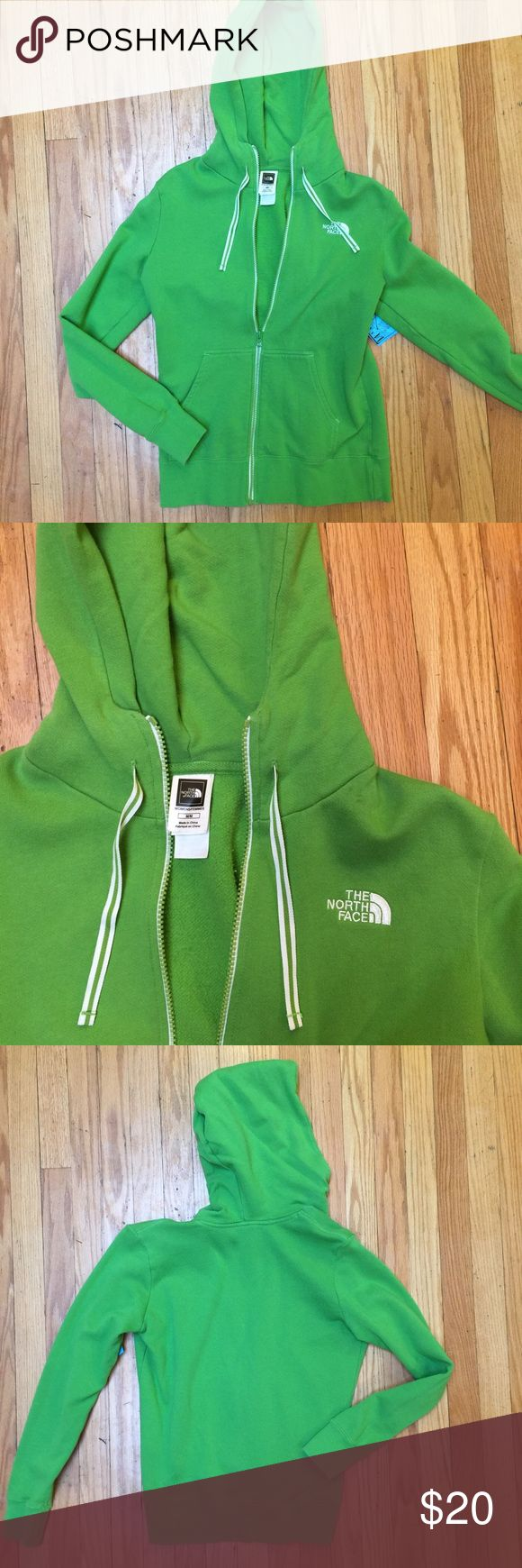 North Face green zip up hoodie! Green North Face hoodie! In great condition! Sz m/m but would be great for small-medium North Face Jackets & Coats