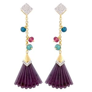 You Fan my desires!!  Get this designer and contemporary pair of #earrings at great prices! #Jewellery #Jaipur #Fashion