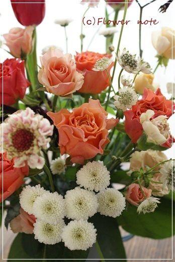 【今日の贈花】91歳のお誕生日のお祝花|Flower note の 花日記 (横浜・上大岡 アレンジメント教室)